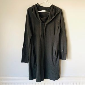 Columbia Sportswear Grey Hooded Long Sweater Top